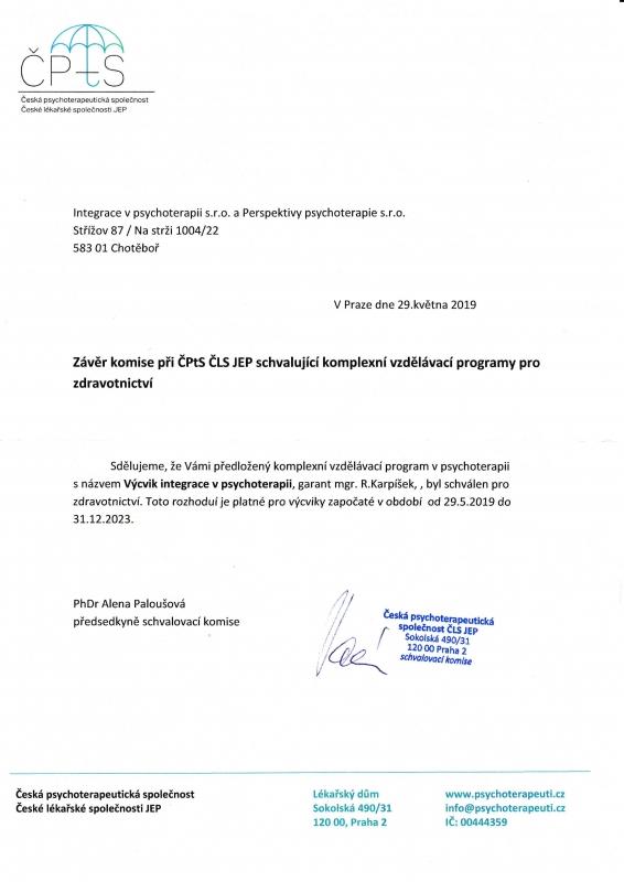 Certifikát ČPtS